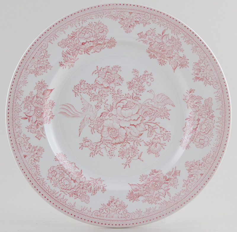 Burleigh Asiatic Pheasants pink Dinner Plate