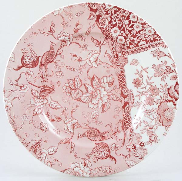 Burleigh Engravers Collection pink Dinner Plate