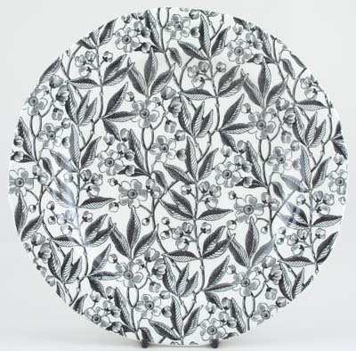 Burleigh Prunus black Dinner Plate