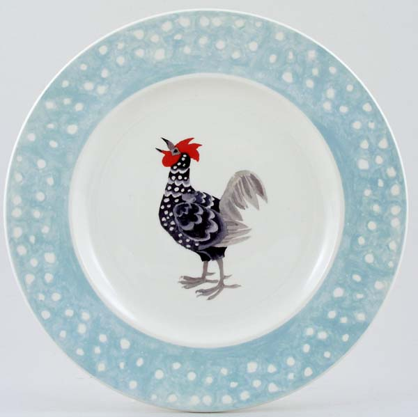 Burleigh Rosies Hens colour Dinner Plate