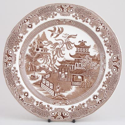 Burleigh Willow brown Dinner Plate