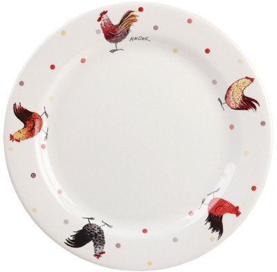 Queens Alex Clark Rooster colour Dinner Plate