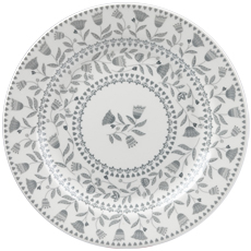 Queens Tilly grey Dinner Plate