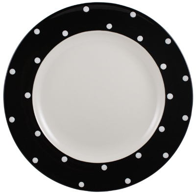 Spode Baking Days black Dinner Plate
