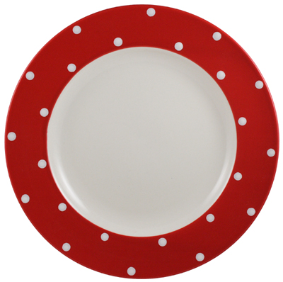 Spode Baking Days red Dinner Plate