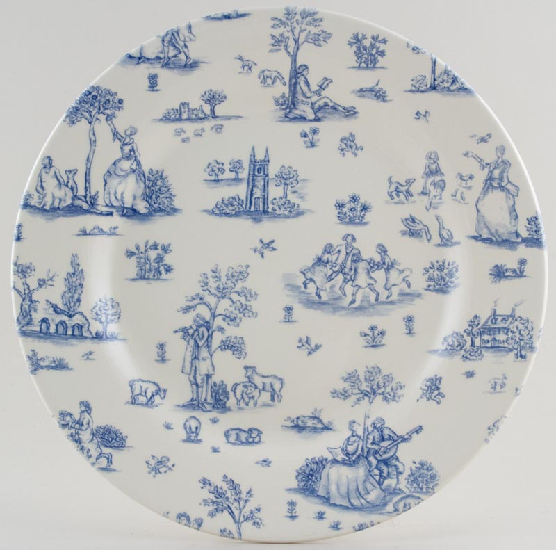 Woods Toile de Jouy Dinner Plate