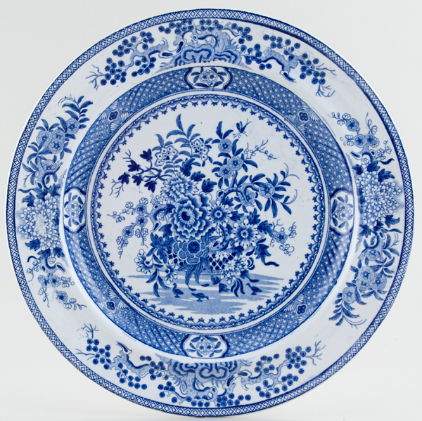 Bathwell and Goodfellow Basket of Flowers Plate c1820
