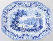Meat Dish or Platter with tree and well c1830