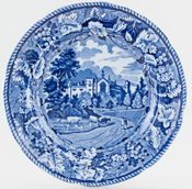 Woods Grapevine Border Series Plate Cashiobury c1825