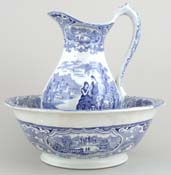 Ewer and Bowl c1870