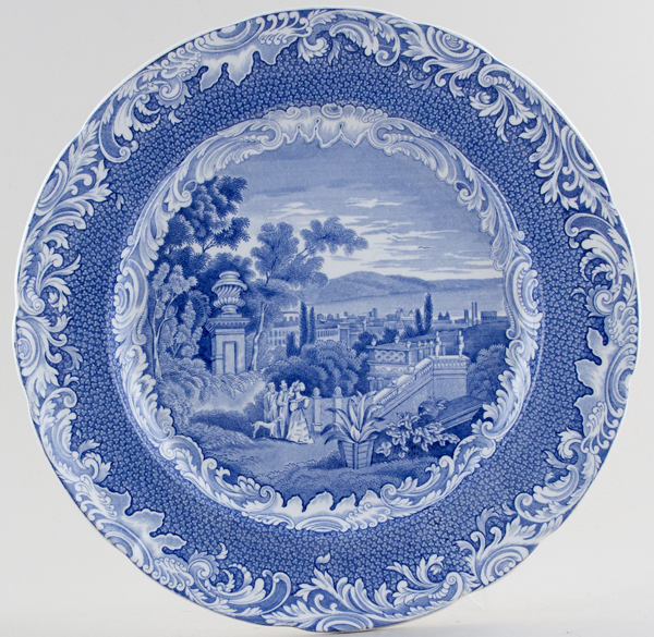 Spode Byron Views Plate Bologna c1840