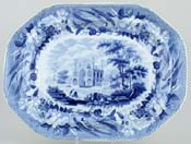 Meat Dish or Platter Gateway & Tomb at Secundra c1820