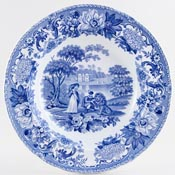Soup Plate The Lion in Love c1830