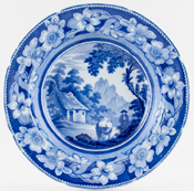 Ridgway The Cowman Soup Plate c1825