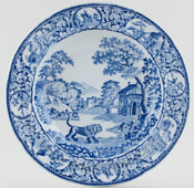 Unattributed Maker The Angry Lion Soup Plate c1820