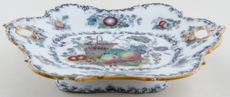 Morley Fruit Basket colour Comport Dessert c1850