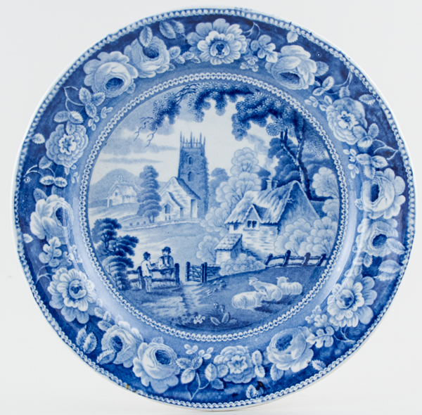 Unattributed Maker Village Church Plate c1825