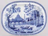 Meat Dish or Platter with tree and well c1815