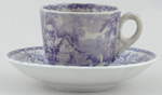 Toy Cup and Saucer c1868