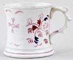 Cambrian Pottery Unidentified Pattern colour Mug c1830