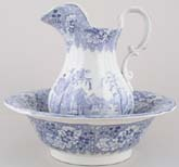 Ewer and Bowl c1840