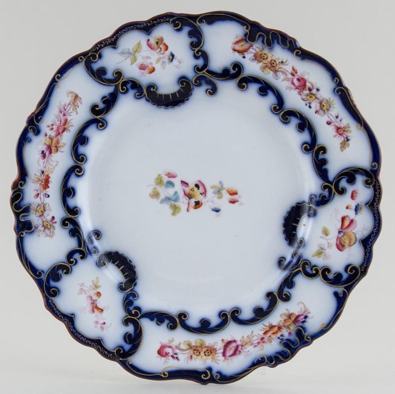 Unattributed Maker Unidentified Pattern blue with colour Plate c1850