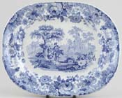 Meat Dish or Platter small Heart of Midlothian c1852