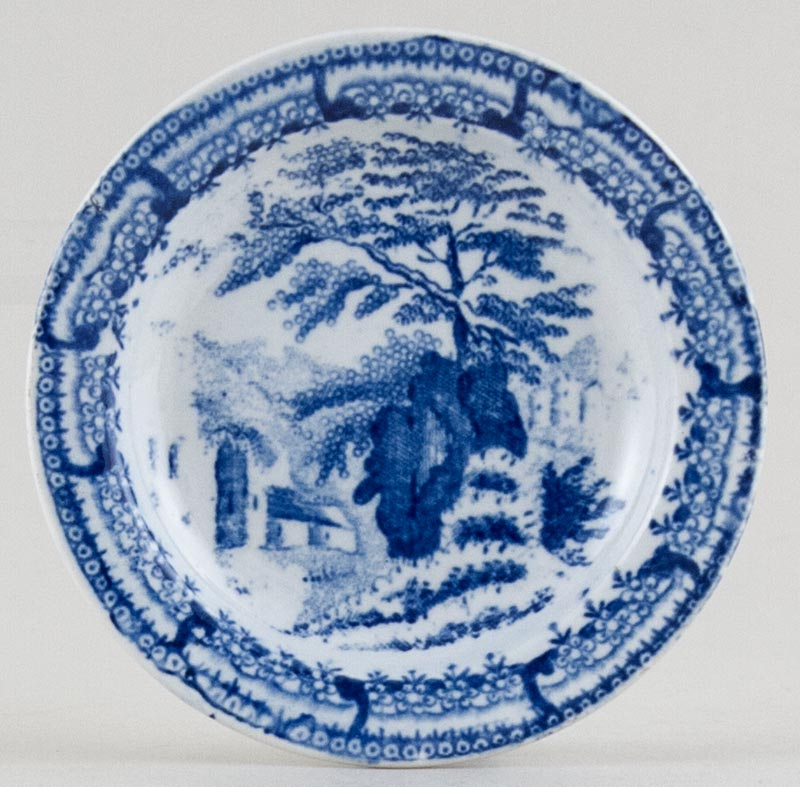 Unattributed Maker Unidentified Pattern Toy Plate c1830