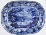 Meat Dish or Platter Windsor Castle c1825