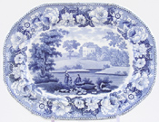 Meat Dish or Platter small Near Patterdale c1825