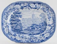 Meat Dish or Platter St Albans Abbey c1825