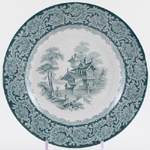 Unattributed Maker Unidentified Pattern green Plate c1860