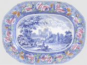 Meat Dish or Platter Ripon Yorkshire c1820