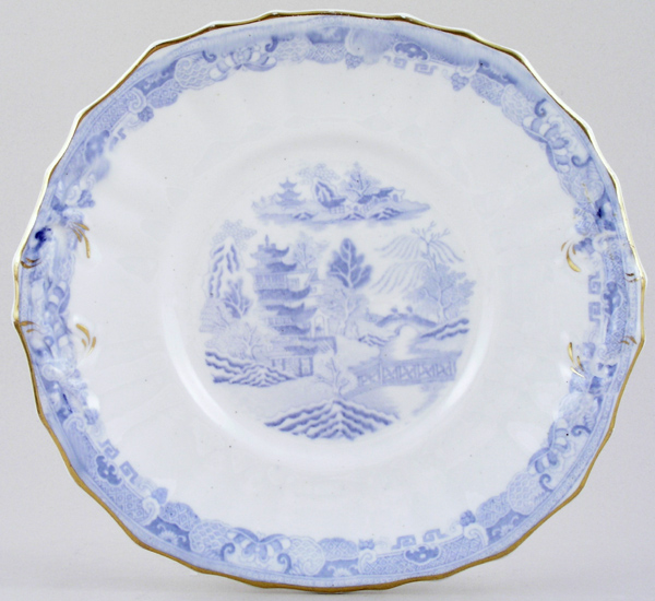 Unattributed Maker Two Temples Bread and Butter Plate c1850