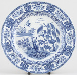 Plate Birds and Willow c1820