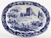 Toy Meat Dish or Platter c1845