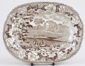 Meat Dish or Platter small c1840