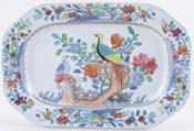 Spode Pheasant blue with colour Meat Dish or Platter c1820