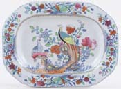Spode Pheasant blue with colour Sauce Tureen Stand c1820