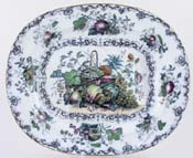 Meat Dish or Platter with tree and well c1850