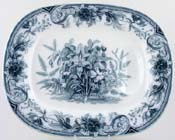 Meat Dish or Platter with Tree and Well c1856