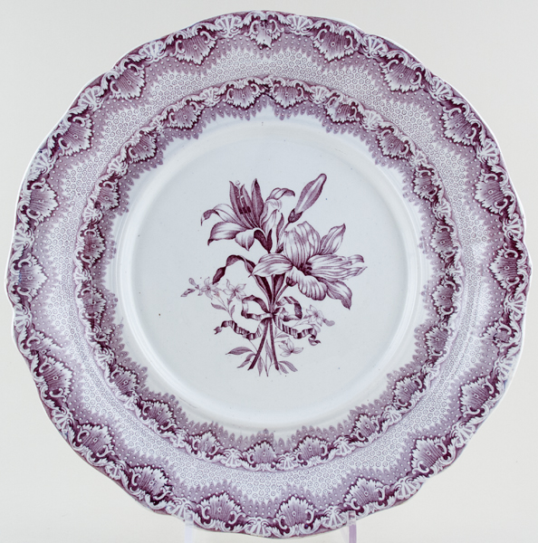 Spode Lily plum Soup Tureen Stand c1840