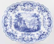 Meat Dish or Platter with tree and well c1835
