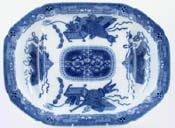 Meat Dish or Platter with tree and well c1810