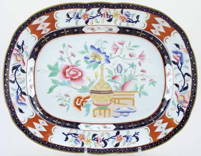 Minton Unidentified Pattern colour Meat Dish or Platter c1830