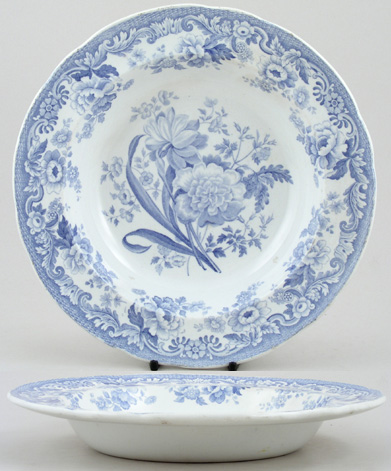 Spode British Flowers Soup Plate c1830