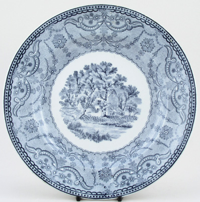 Spode Richmond Views grey Plate c1894