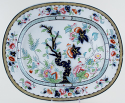 Ridgway Vesper colour Meat Dish or Platter c1860s