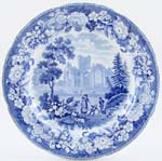 Plate Melrose Abbey c1825