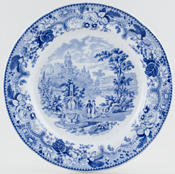 May Fountain Plate c1830
